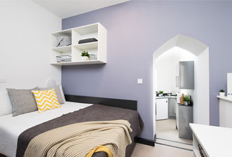 Fortis Vision Cathedral Park-Bristol Unite student bedroom feature